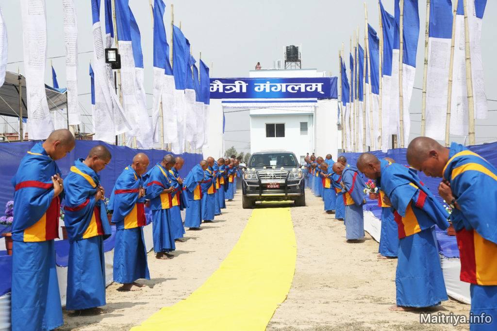 maitriya-guru-arriving